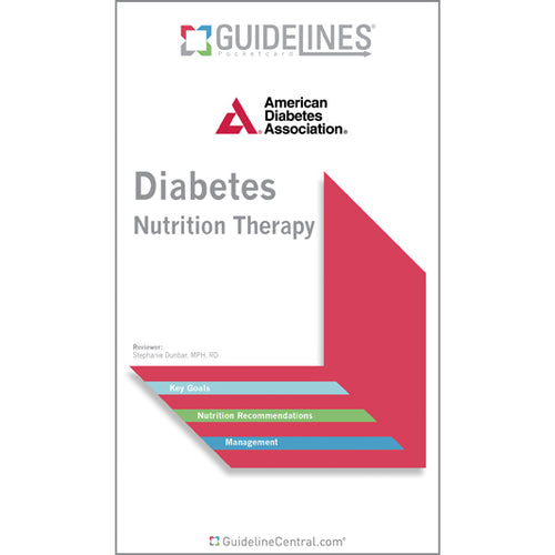 Diabetes Nutrition Therapy Pocket Chart (2014)