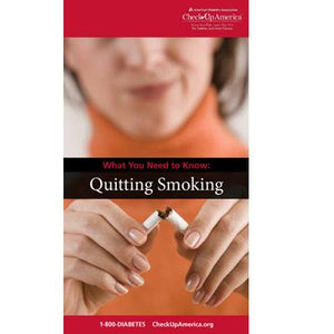 What You Need to Know: Quitting Smoking Brochure (50/Pkg)
