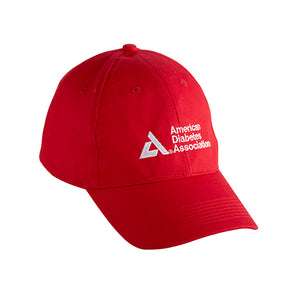 American Diabetes Association Twill Cap, Red