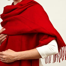 Load image into Gallery viewer, Red Pashmina Scarf