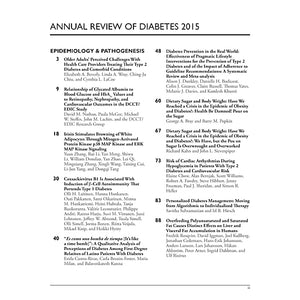 Annual Review of Diabetes 2015