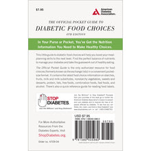Load image into Gallery viewer, The Official Pocket Guide to Diabetic Food Choices, 4th Edition