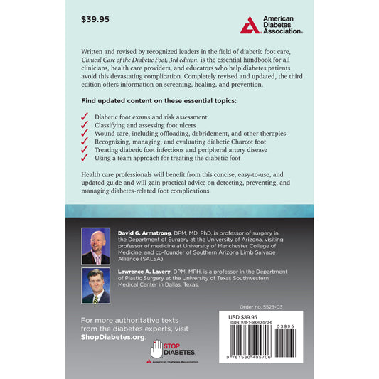 Clinical Care Of The Diabetic Foot 3rd Edition Shopdiabetes Org Store From The American Diabetes Association