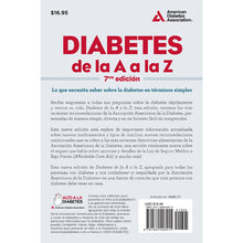 Load image into Gallery viewer, Diabetes A to Z, 7th Edition (Spanish) [Diabetes de la A a la Z, 7ma Ed.]