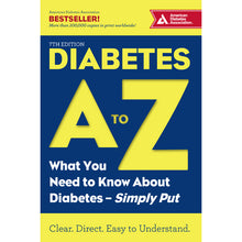 Load image into Gallery viewer, Diabetes A to Z, 7th Edition