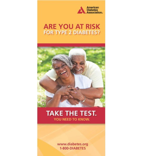 Diabetes Risk Test Brochures: 2016 Version (Bilingual) (50/Pkg)