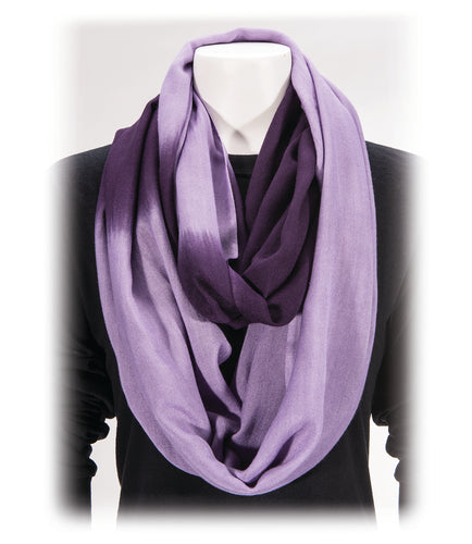 Gift of Hope: Lilac Ombre Infinity Scarf