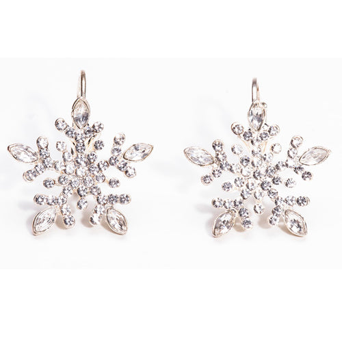 Gift of Hope: Sparkling Snowflake Earrings