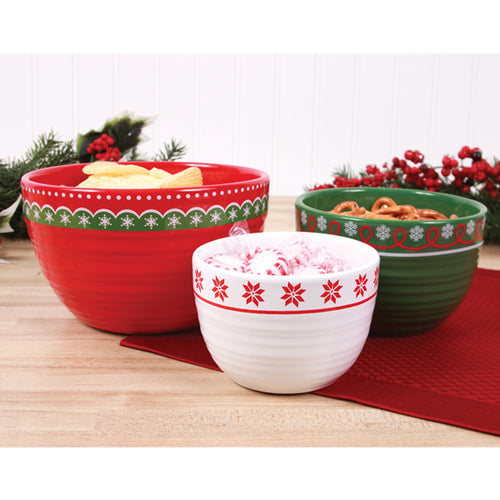 Gift of Hope: Happy Holidays Nesting Bowls