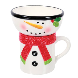 Gift of Hope: Season's Greetings Snowman Mug & Bowl Set