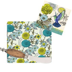 Gift of Hope: Blue Hummingbird Cutting Board Gift Set
