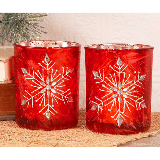 Gift of Hope: Snowflake Votive Set