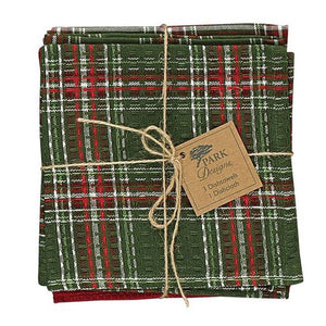 Gift of Hope: Holly Plaid Dish Towel Set