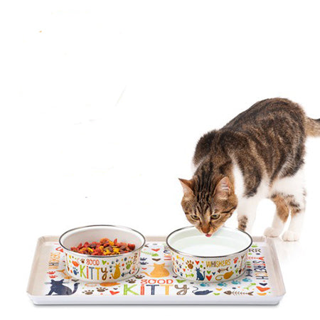 Gift of Hope: Magnetic Pet Bowl & Tray Set (Cat)