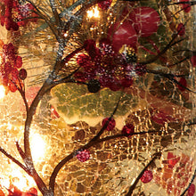 Load image into Gallery viewer, Gift of Hope: Illuminated Holly Crackle Vase