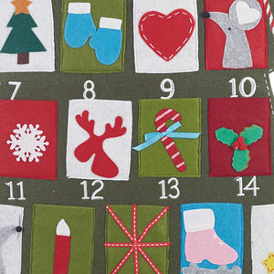 Gift of Hope: Festive Felt Advent Wall Calendar