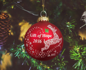 Gift of Hope: 2016 ADA Classic Glass Ball Ornament
