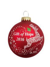 Load image into Gallery viewer, Gift of Hope: 2016 ADA Classic Glass Ball Ornament