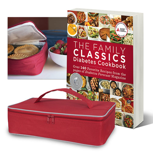 SET: The Family Classics Diabetes Cookbook and Insulated Casserole Carrier