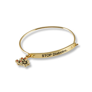 Stop Diabetes Glucose Molecule on Bracelet
