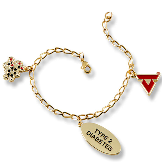 American Diabetes Association Charms on Chain Bracelet