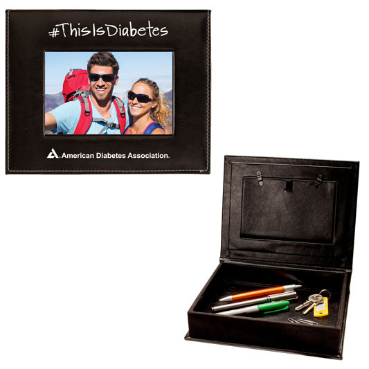#Thisisdiabetes Faux Leather Photo and Memory Box, 4