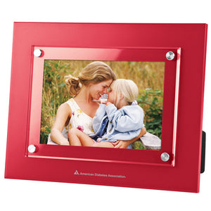 "4"" X  6"" American Diabetes Association Logo Acrylic Window Picture Frame, Red"