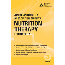 Load image into Gallery viewer, American Diabetes Association Guide to Nutrition Therapy for Diabetes, 3rd Edition
