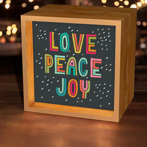 Light Box Art: Love, Peace, Joy