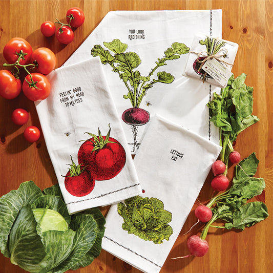 Farm to Table Dishtowel in Fruit Crate