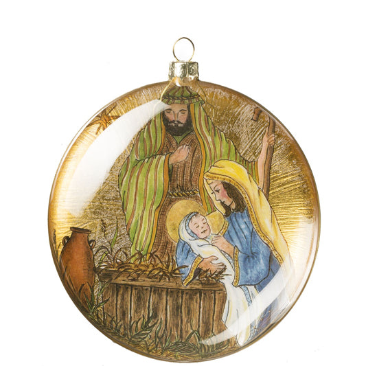 Classic Holy Family Disc Ornament
