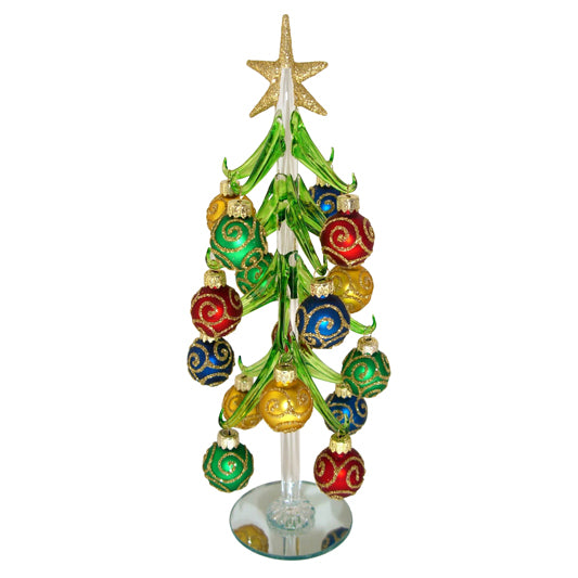 Sparkling Blown-Glass Christmas Tree