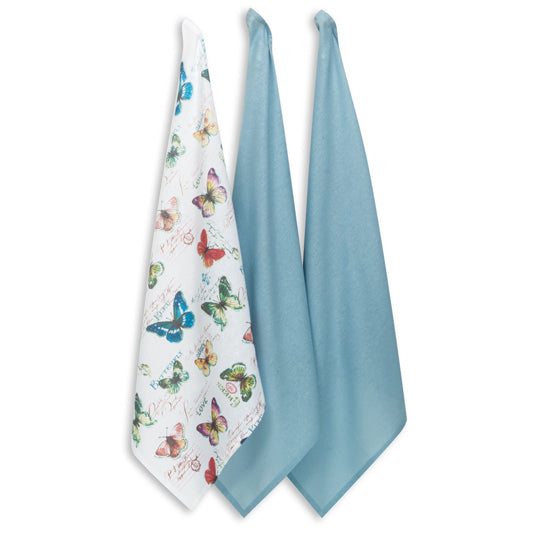 Butterfly Garden Flour Sack Towel Set