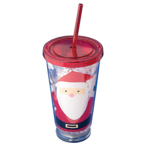 Jolly Santa Light-Up Tumbler