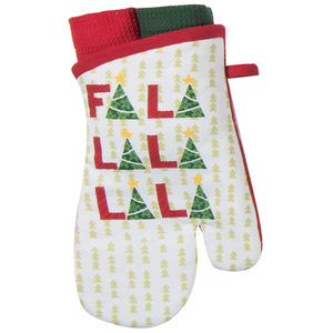 Fa La La Oven Mitt Hostess Set