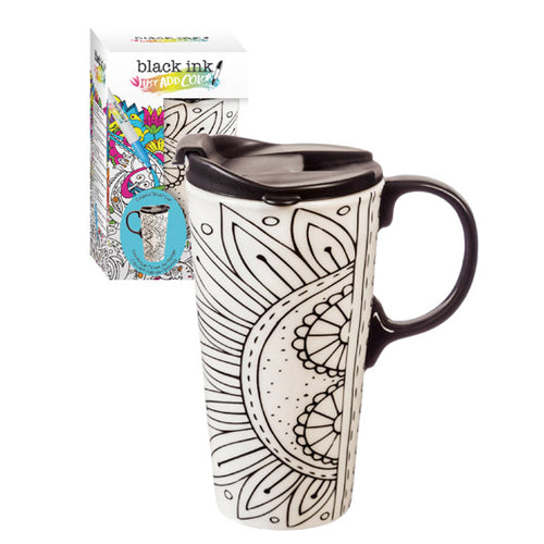 Just Add Color Ceramic Travel Cup