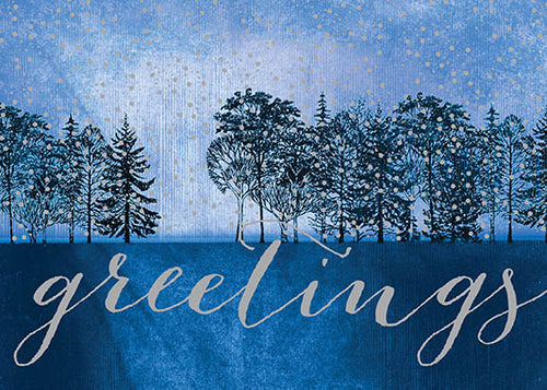 Midnight Blue in the Wintry Forest Cards (20/Box)