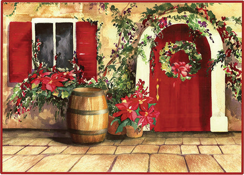 The Tuscan Doorway in December Cards (20/Box)