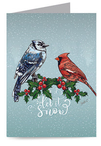 Peaceful Winter Birds Cards (20/Box)
