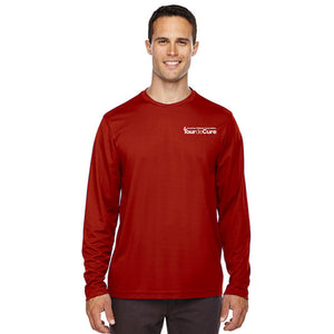 Tour de Cure Long-Sleeved Shirt, Red, Mens