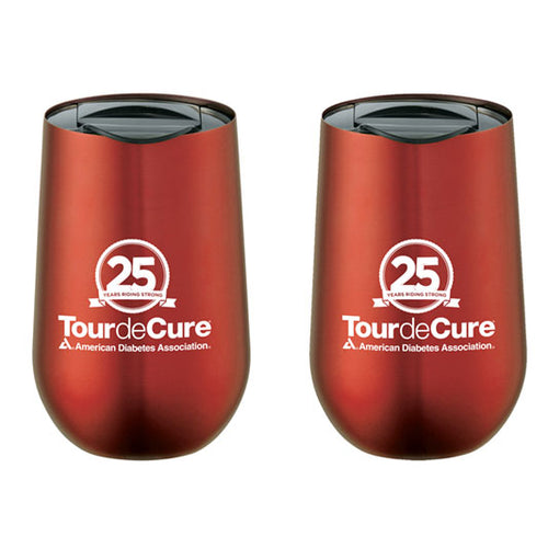 Tour de Cure 25th Anniversary Tumbler with Lid (2/Pkg)