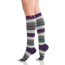 Load image into Gallery viewer, Women's Fun Stripes Compression Socks by VIM & VIGR