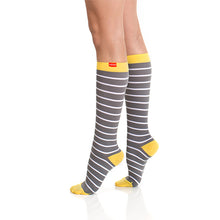 Load image into Gallery viewer, Women's Nautical Stripes Compression Socks by VIM & VIGR