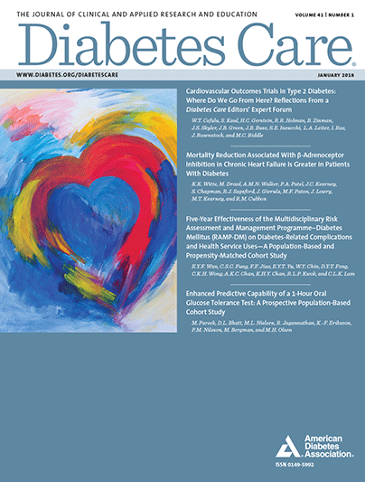 Diabetes Care, Volume 41, Issue 1, January 2018