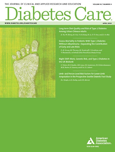 Diabetes Care, Volume 41, Issue 4, April 2018