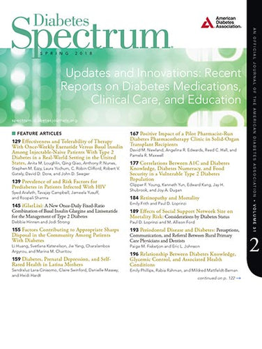 Diabetes Spectrum, Volume 31, Issue 2, Spring 2018