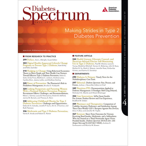 Diabetes Spectrum, Volume 31, Issue 4, Fall 2018
