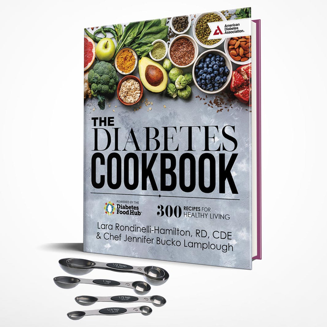 SET: The Diabetes Cookbook and Magnetic Measuring Spoons