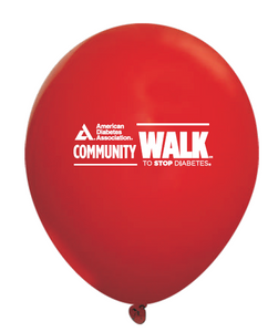 Community Walk Red Balloons (25/Pkg)