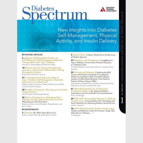 Diabetes Spectrum, Volume 32, Issue 1, Winter 2019